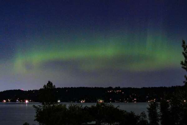Aurora Borealis was visible over Seattle early Monday morning.