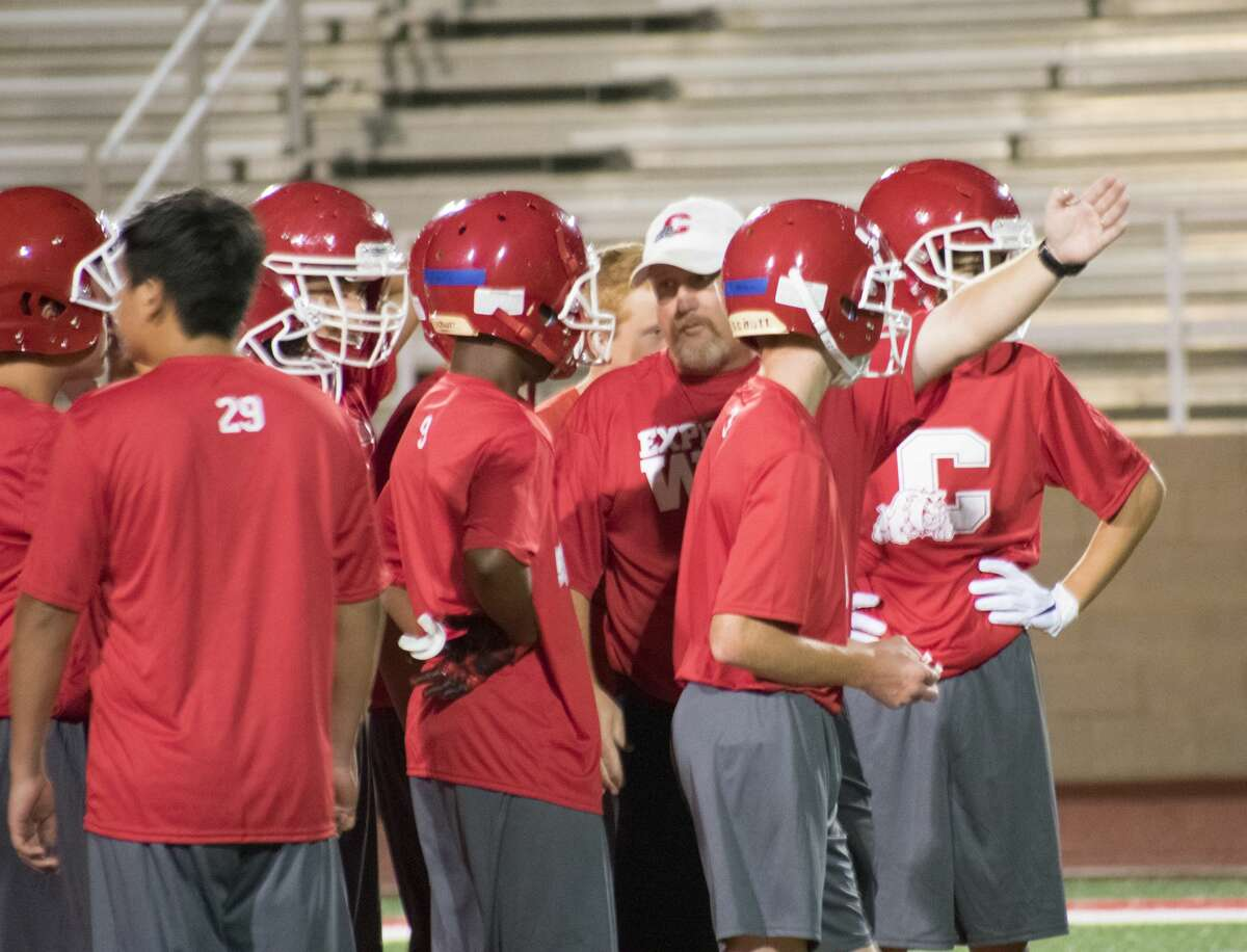 The Coahoma football team goes through Midnight Madness practice late Sunday night at Bill Easterling Memorial Stadium.