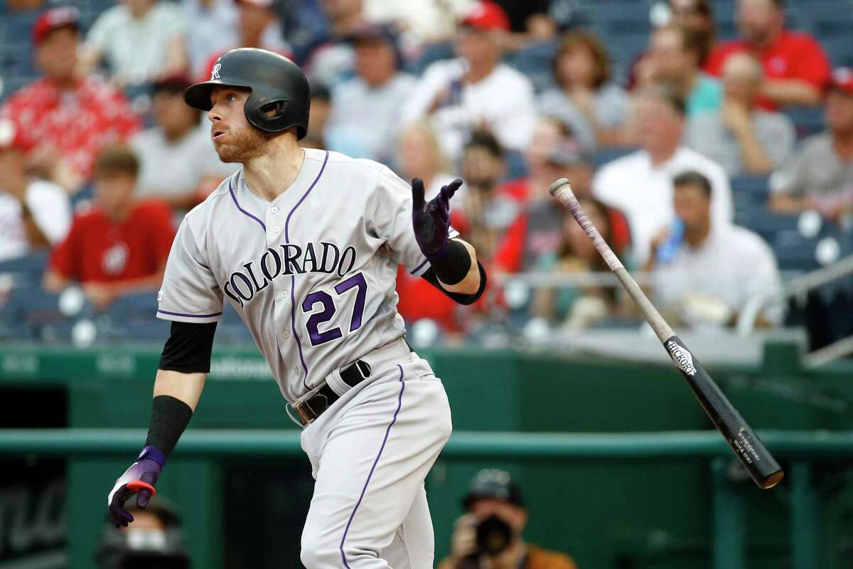 On Sunday, Rockies shortstop Trevor Story joined Hall of Famers Mike Schmidt and Rogers Hornsby as the only players to homer in five consecutive games against the Giants.