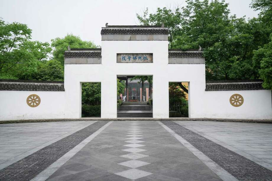 The Buddhist Academy at the Lingyin Temple in Hangzhou. Many students taking the academy's Sanskrit class say they find the site - and the class - calming. Photo: Washington Post Photo By Yan Cong / The Washington Post