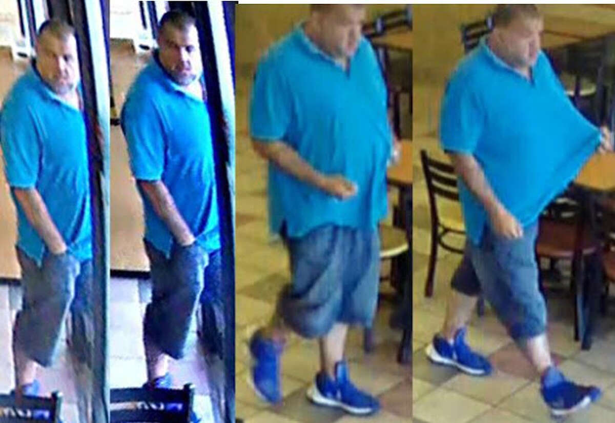 He is described as a white male in his 40s, weighing about 200 pounds and roughly 5 feet and 11 inches, police said.