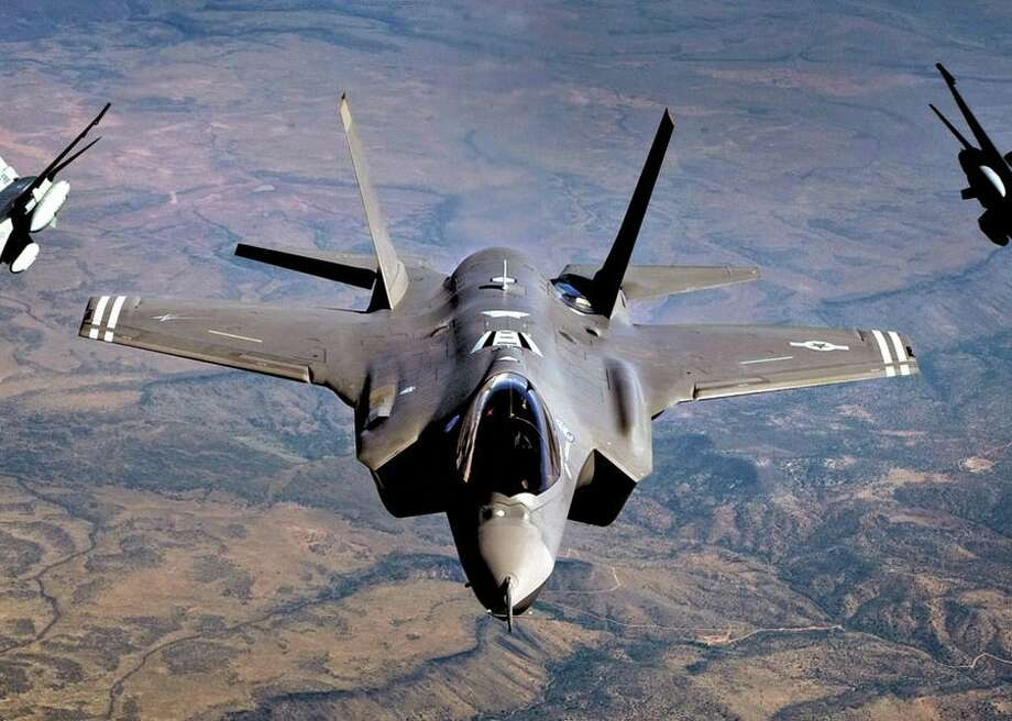 An F-35 Lightning II is a next-generation stealth multirole fighter jet designed for ground attacks and air defense missions. It's the first U.S. Air Force plane designed with voice recognition. Photo: CBSI/CNET