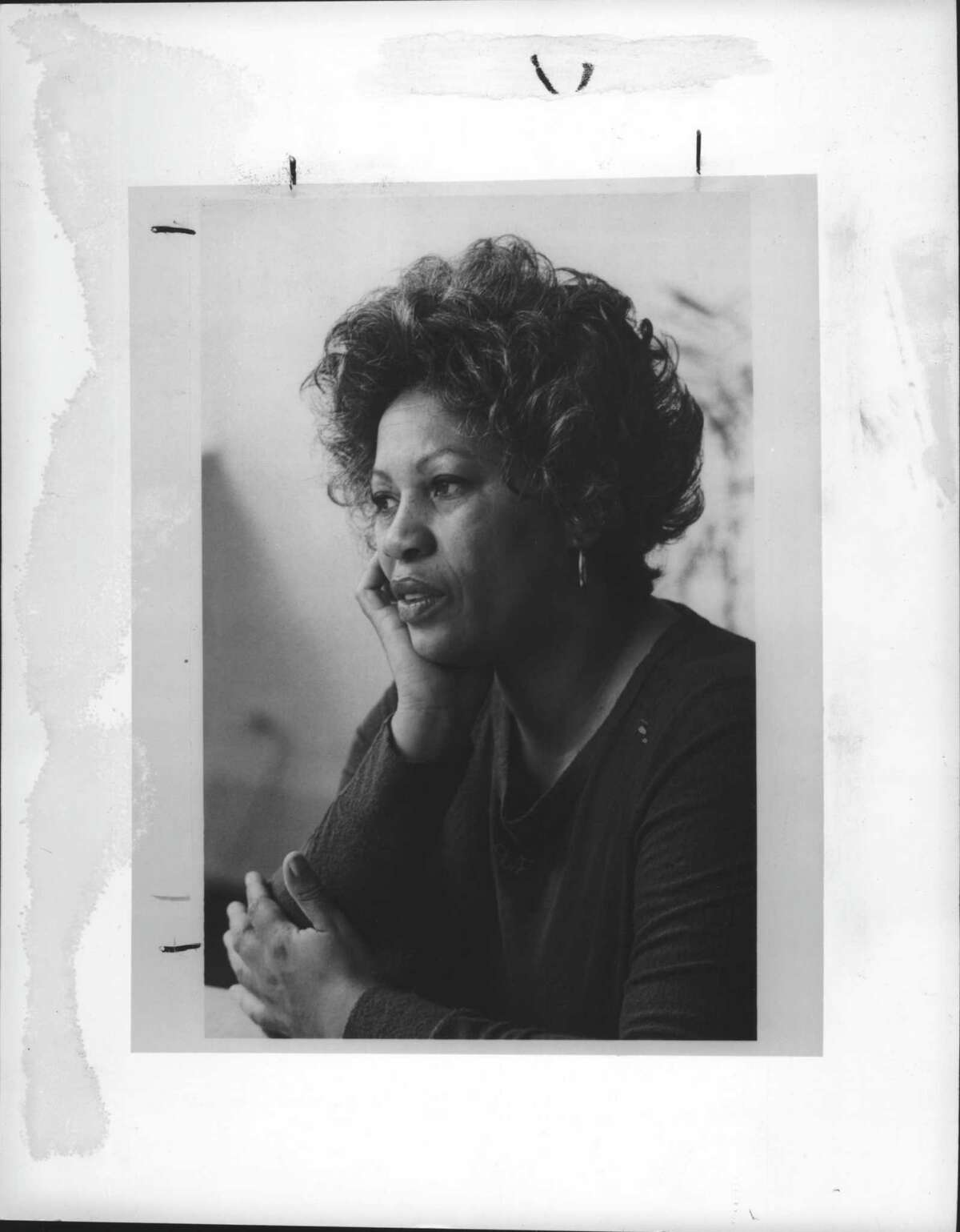 Author Toni Morrison, Schweitzer Professor in the Humanities, The University at Albany, New York. Undated (Helen Marcus/Times Union Archive)