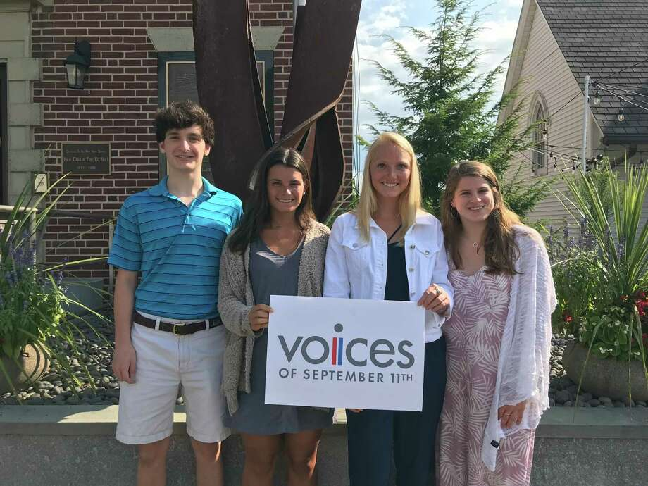 Voices of September 11th interns Davis Whiteley, Paige Freyre, Sally Clayton and Rachel Fox will deliver the group's annual presentation at the New Canaan Library on Wednesday, Aug. 21. Photo: Contributed Photo / Voices Of September 11th / New Canaan Advertiser Contributed