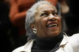 FILE -- The author Toni Morrison lectures at the Louvre in Paris on Nov. 10, 2006. Morrison, the 1993 Nobel laureate in Literature, whose work explored black identity in America and in particular the experience of black women, died on Monday, Aug. 5, 2019, at Montefiore Medical Center in New York, her publisher said in a statement. She was 88. (Ed Alcock/The New York Times)