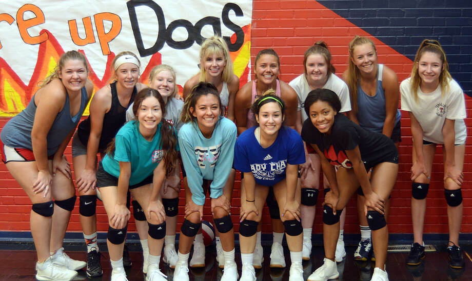 Members of the 2019 Plainview High School volleyball team include, from left, in front, Hannah Rodriguez, Aaliyah Rogers, Emily Sigala and Inesha Nash; in back, Emily Hendon, Saige Brunson, Haley Curtis, Lexie Bennett, Aspin Miller, Avery Moudy, Caroline Northcutt and Adri Martin. Photo: Nathan Giese/Planview Herald