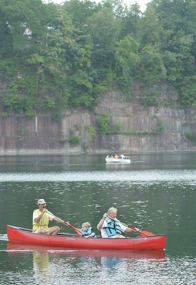 In this file photo, canoers on the Brownstone Quarry. Photo: / Hearst Connecticut Media File Photo