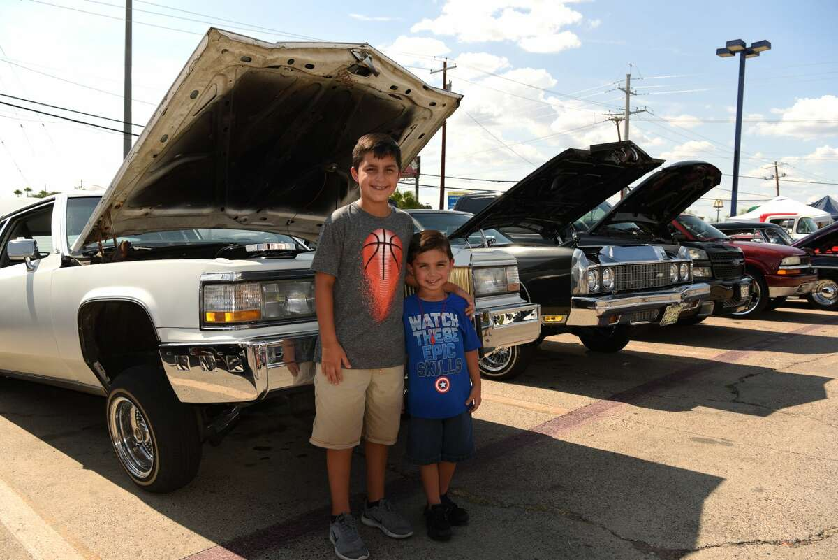 Car clubs and car enthusiasts gathered to show off their rides and donate school supplies to children before going back to school at Pep Boys, Sunday, August 4, 2019.