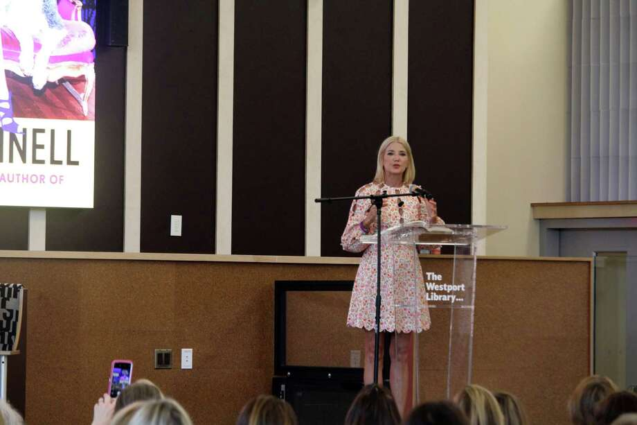 "Candace Bushnell, author of ""Sex and the City,"" spoke at the Westport Library on Monday. Taken Aug. 5, 2019 in Westport, CT. Photo: Lynandro Simmons/Hearst Connecticut Media"