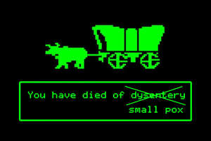 A different, and perhaps more historically accurate, ending of the Oregon Trail.