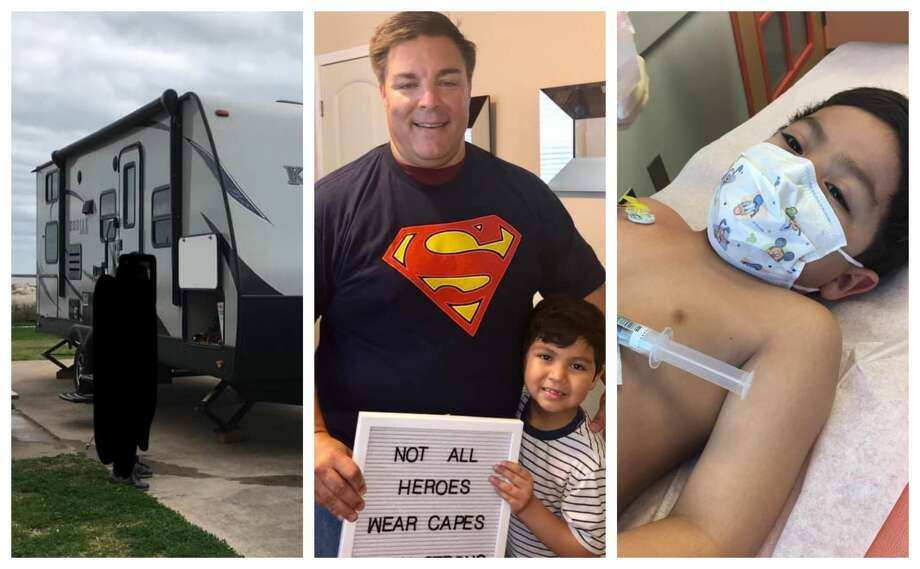 Ethan Perez' family bought an RV a year ago to take him on family trips without compromising his immune system while he battles cancer. After the RV was reported stolen last week, Pearland resident Richard Jones spotted the camper and followed it to a gas station before calling police. Photo: Courtesy Evelyn Perez