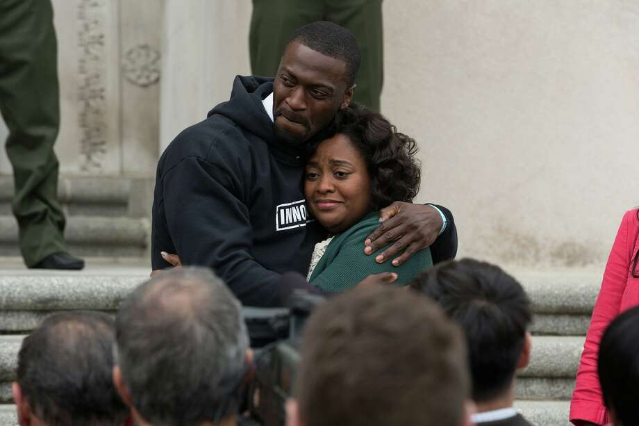 "Aldis Hodge, left, and Sherri Shepherd in ""Brian Banks."" MUST CREDIT: Katherine Bomboy, Bleecker Street Photo: Katherine Bomboy / Bleecker Street / Katherine Bomboy/Bleecker Street"
