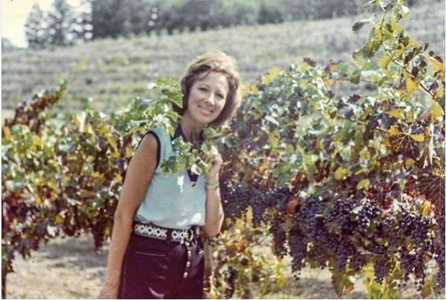"""Adelle """"Boots"""" Brounstein at Diamond Creek Vineyards, which she founded with her husband, Al, in 1968. Boots died on July 31, 2019 at 92. Photo: Diamond Creek Vineyards"""