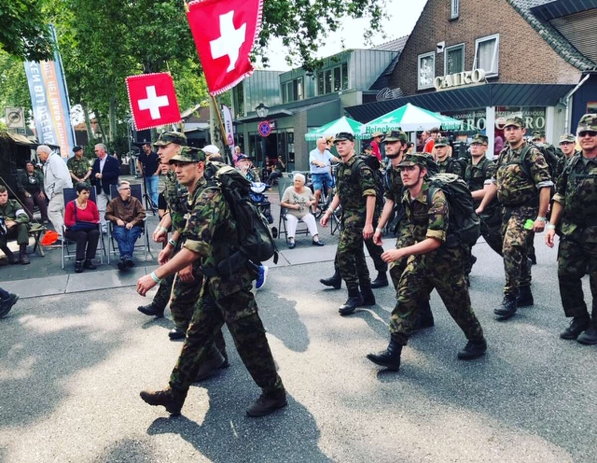 Soldiers from Switzerland participate in