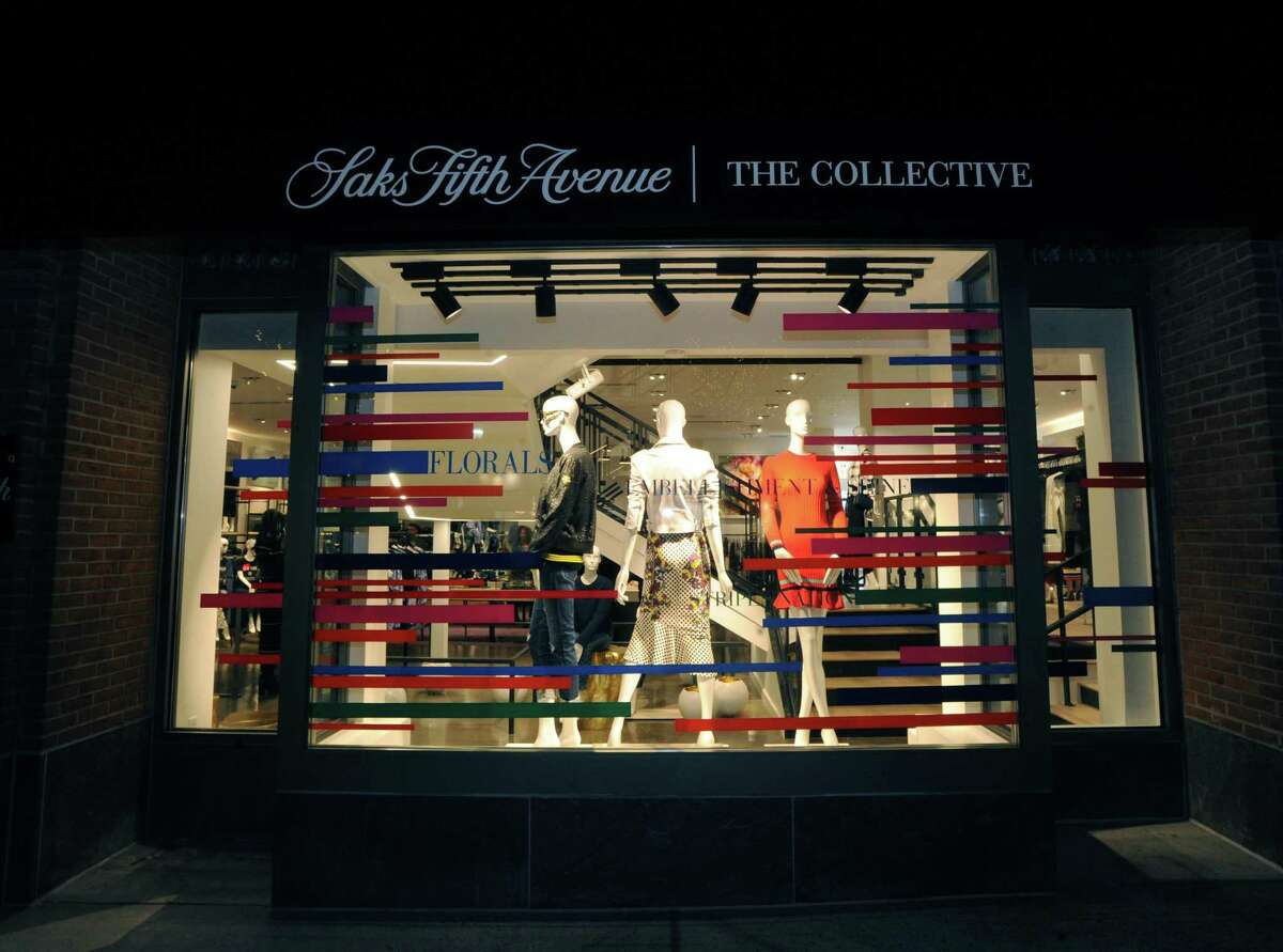 The celebration and media tour of the new Saks Fifth Avenue specialty store, The Collective, at 200 Greenwich Ave., Greenwich, Conn., Wednesday night, Feb. 1, 2017. The new specialty store format is a 2-level 14,000 square foot store and according to Sak's executives is part of a rebranding of the company's comtemporary retail business. Saks Fifth Avenue is a luxury retailer.