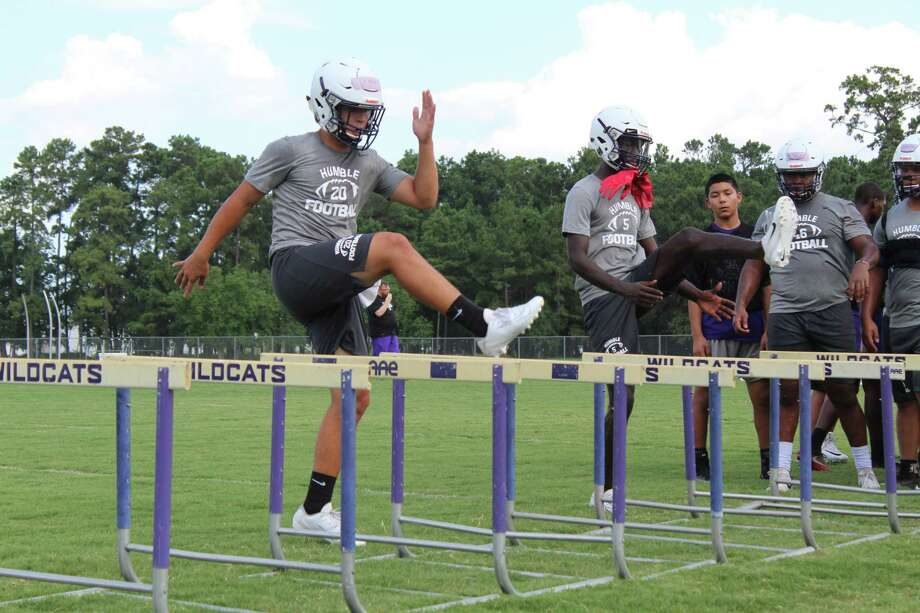 Humble held its first football practice this season to begin the 2019-2020 football season. Photo: Marcus Gutierrez Staff Photo