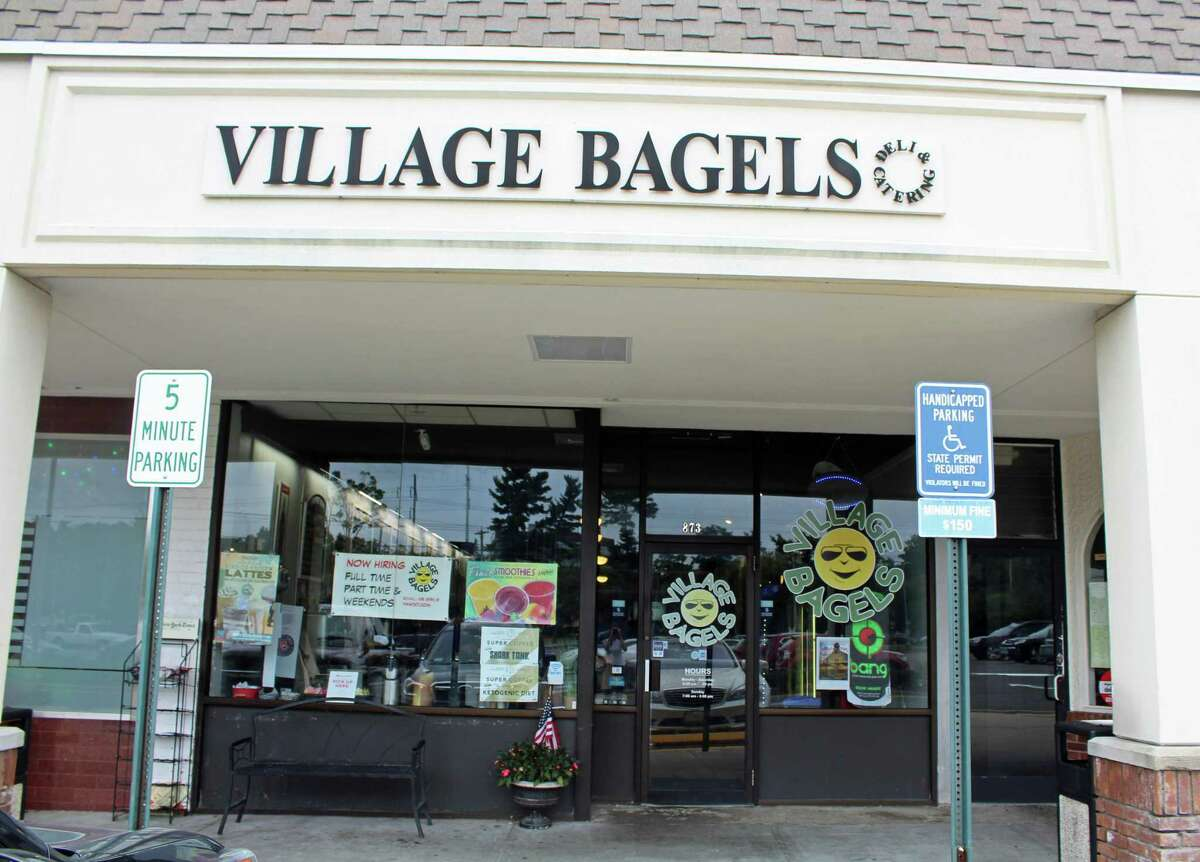 Village Bagels received a four-point deduction for storing items above the temperature limit.