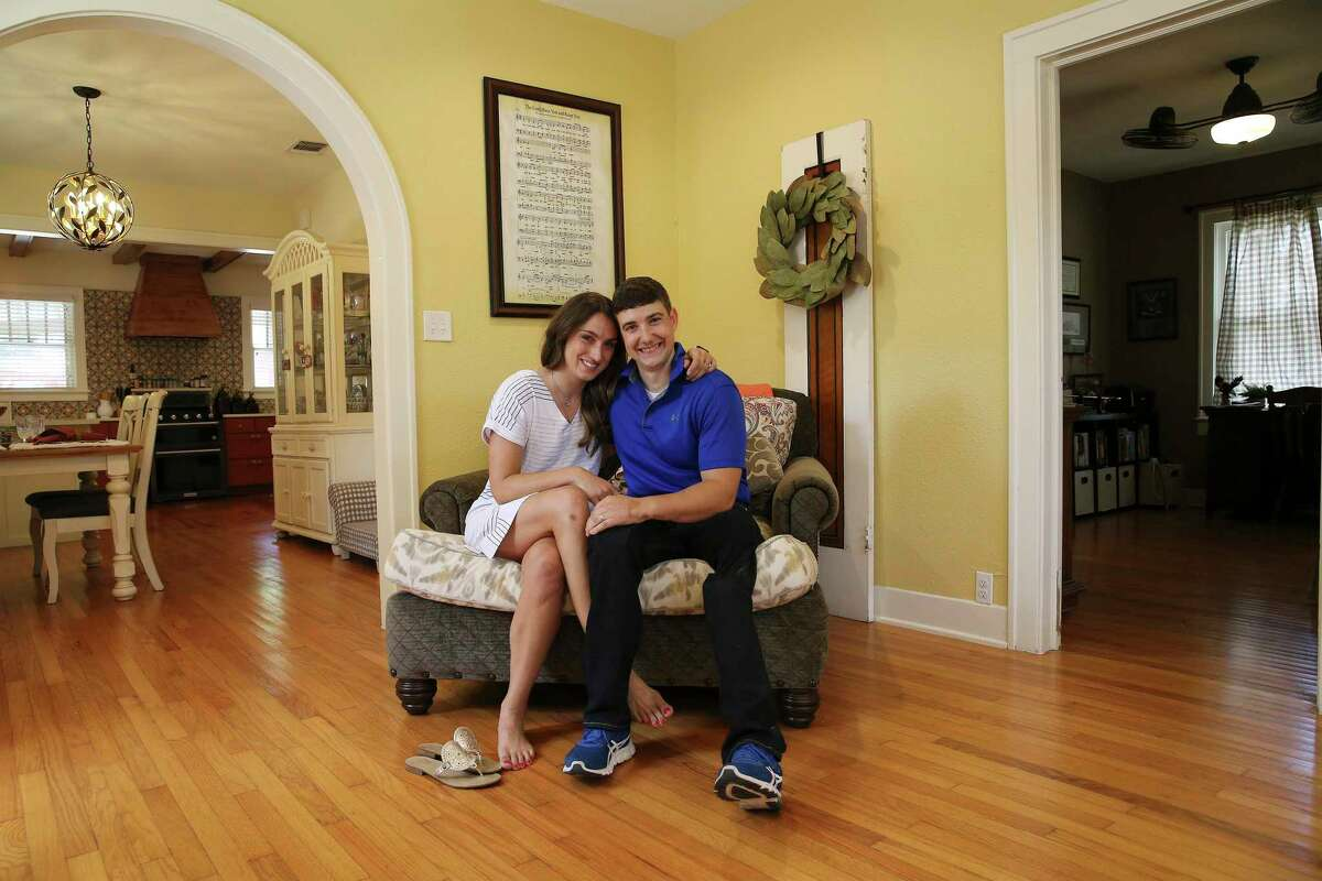 Rachel and Larkin O'Hern enjoy living in their home in the Tobin Hill neighborhood. An Army veteran, Larkin was severely injured in 2011 while serving in Kandahar province in Afghanistan, losing parks of both legs and his right hand.
