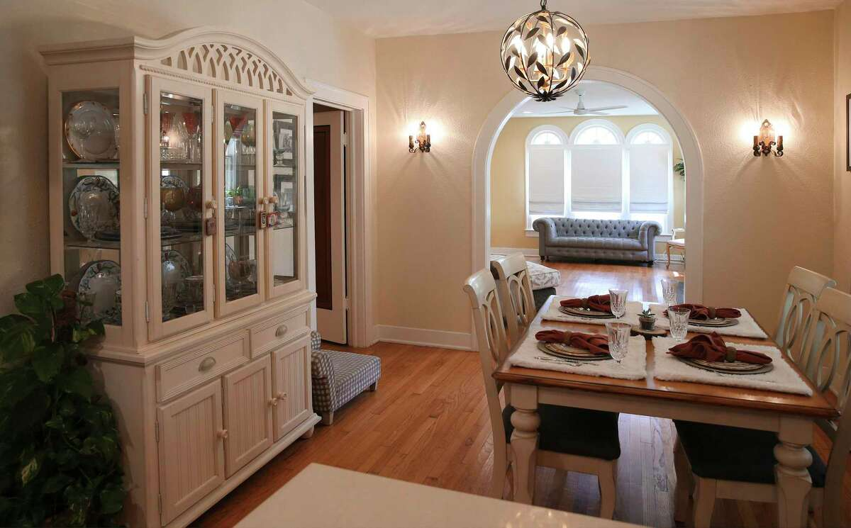 As part of the renovation, the couple removed the dining room wall which opened up enough space in the kitchen that Larkin can do doughnuts in his wheelchair, should the spirit so move him.
