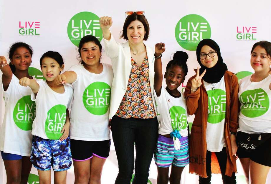 """LiveGirls with Dr. Cristal Glangchai, founder and CEO of VentureLab in Austin, Texas, and bestselling author of """"VentureGirls."""" Photo: Contributed Photo / LiveGirl / New Canaan Advertiser Contributed"""