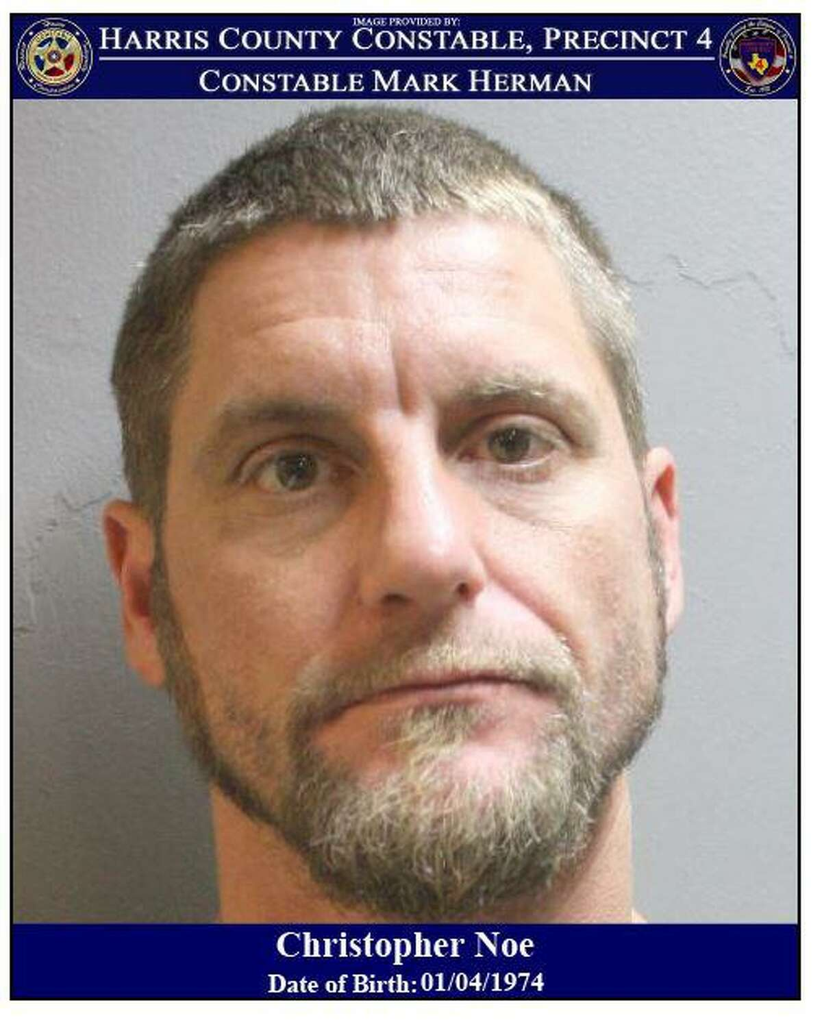 Christopher Noe is wanted by deputies with Harris County Precinct 4 Constable Mark Herman's office in connection with an illegal dumping case in west Harris County.