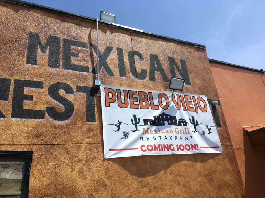 "Temporary ""coming soon"" signage for a new Mexican restaurant named Pueblo Viejo in San Antonio's Tobin Hill area has been put up in the former Plaza Guadalajara building at 1626 McCullough Ave. Photo: Chuck Blount / Staff"