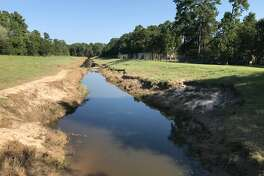 Erosion near Deer Ridge Boulevard in Kingwood.