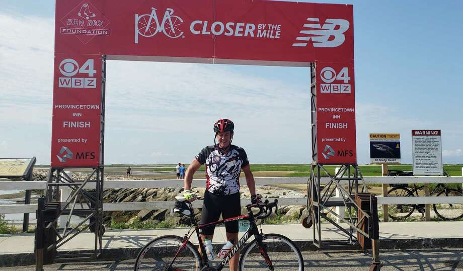 Tom Schneider completed the two-day Pan Mass Challenge, Aug. 3-4, 2019, to raise money for Dana Farber Institute. Photo: Contributed Photo / Wilton Bulletin Contributed