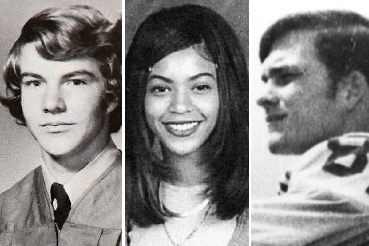 See old high school yearbook photos of Houston celebs such as Beyonce and Jim Parsons