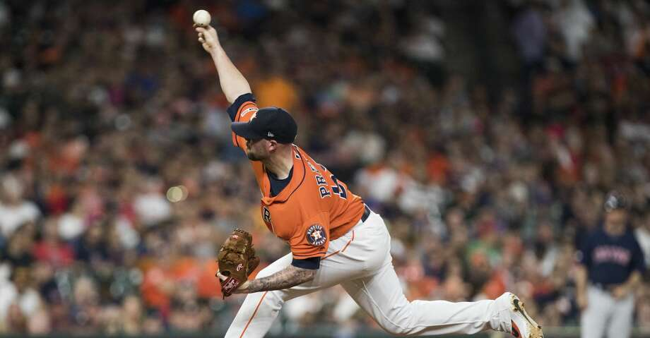 PHOTOS: 2019 Houston Astros game-by-game Houston Astros relief pitcher Ryan Pressly (55) pitches during the eighth inning against the Boston Red Sox on Friday, May 24, 2019, in Houston. >>>See how the Astros have fared in each game this season ... Photo: Marie D. De Jesus/Staff Photographer