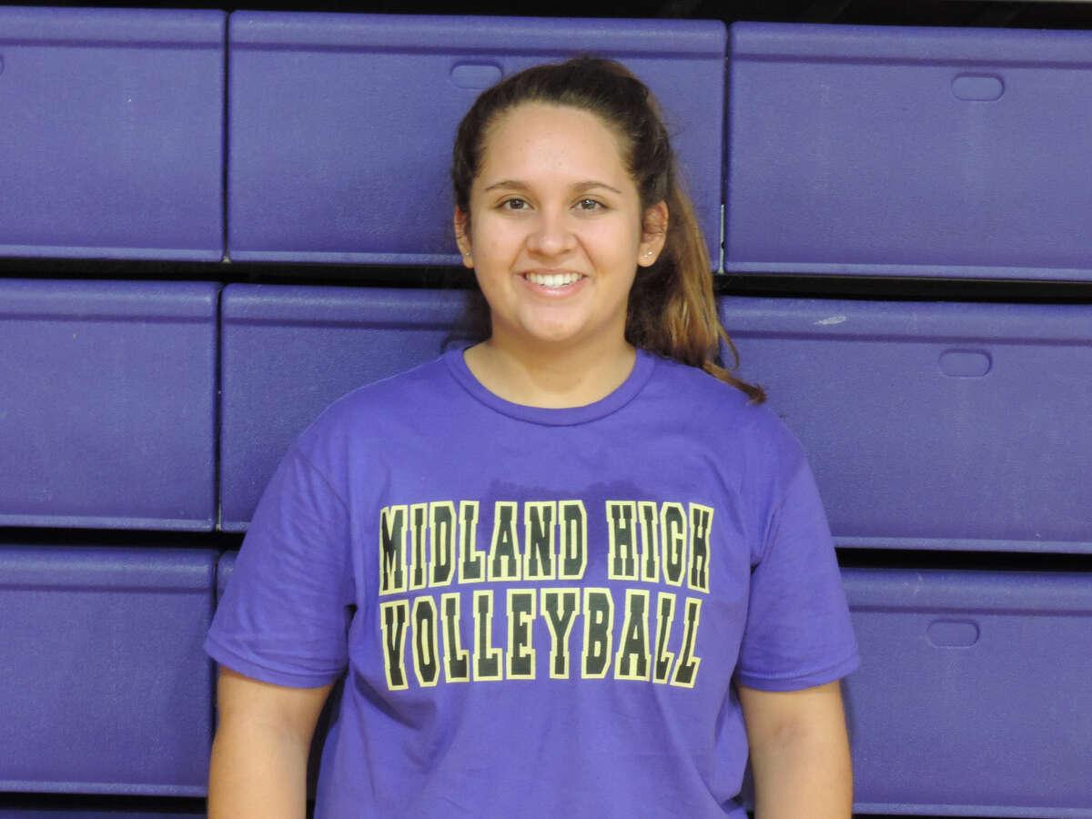 Midland High setter Sarah Mata