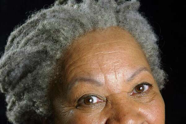 """Author Toni Morrison poses for a portrait for her book entitled """"Love"""" in Midtown Manhattan on August 29, 2002 in New York City. The Pulitzer and Nobel prize winning author died Monday, Aug. 5, 2019, at 88."""