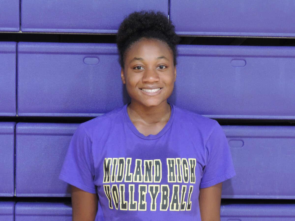 Midland High middle blocker Joslyn Prince