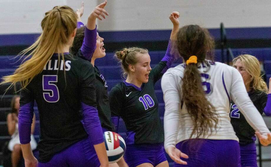 Willis celebrates after scoring during a non-district match Tuesday, August 6, 2019 Willis High School. Photo: Cody Bahn, Houston Chronicle / Staff Photographer / © 2019 Houston Chronicle