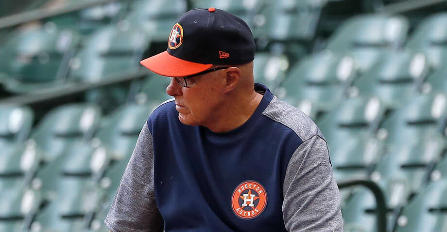 PHOTOS: Astros game-by-game Houston Astros pitching coach Brent Strom sits on the wall during batting practice before the start of an MLB baseball game at Minute Maid Park, in Houston, Thursday, April 25, 2019. Browse through the photos to see how the Astros have fared in each game this season. Photo: Karen Warren/Staff Photographer / © 2019 Houston Chronicle