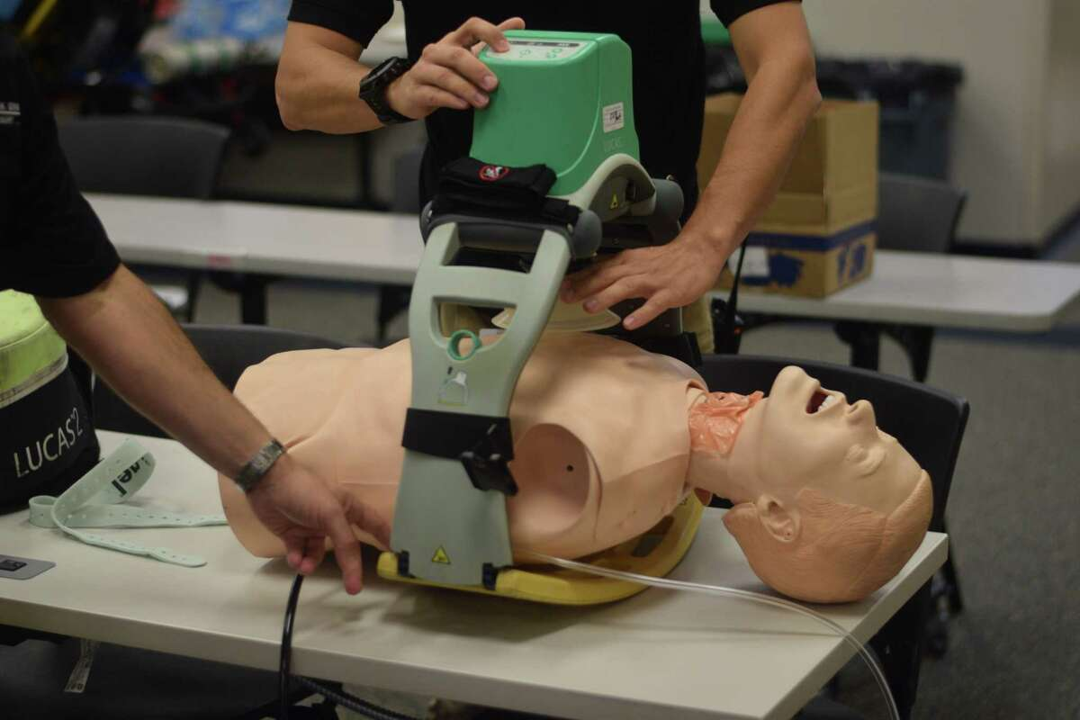 Cypress Creek EMS has access to devices that could save lives in an emergency, including the automatic CPR device LUCAS 2, a mobile ultrasound that can be plugged into a phone or tablet and the EZ-IO, which allows IVs to be put into patients' bone marrow.