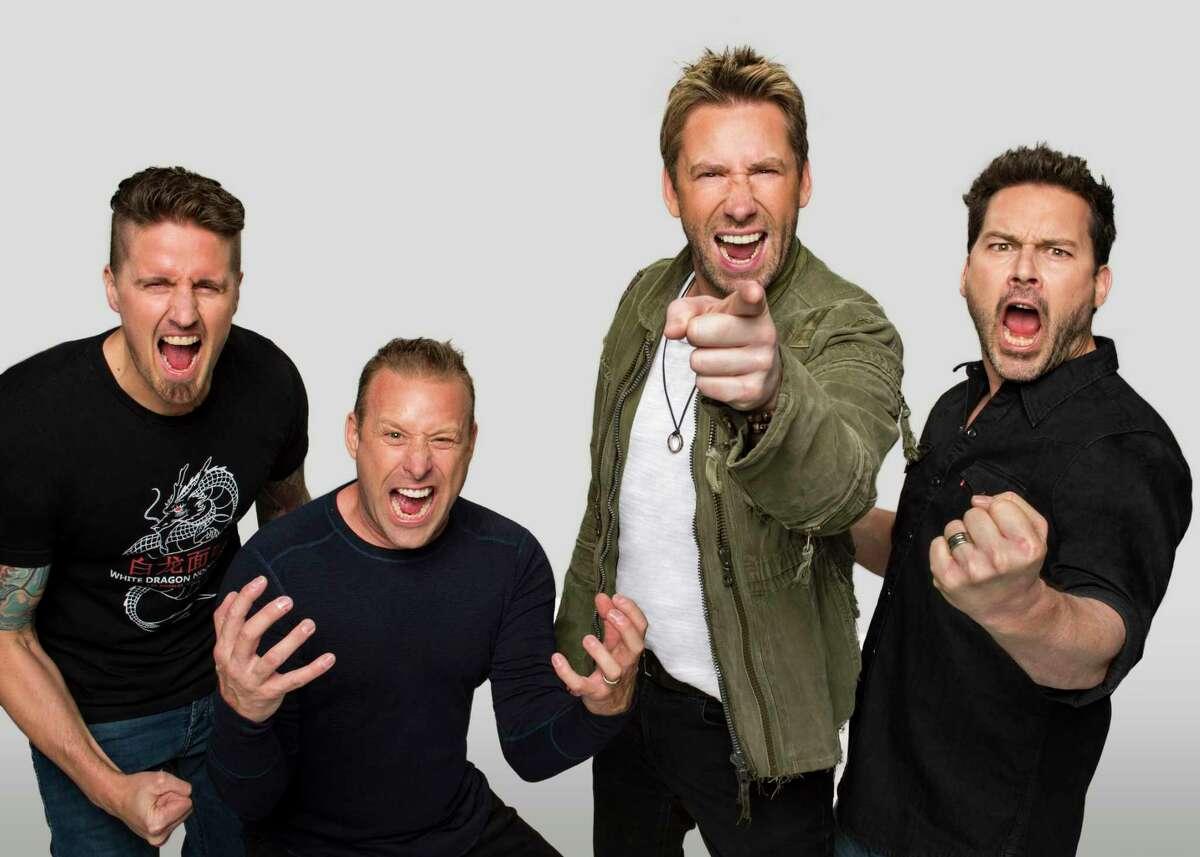 Nickelback plays Mohegan Sun Arena on Aug. 22. From left are Daniel Adair, Mike Kroeger, Chad Kroeger and Ryan Peake.