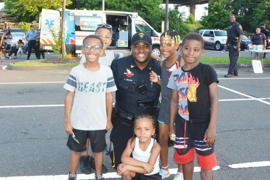 Bridgeport residents participated in National Night Out on Park Avenue on August 6, 2019. National Night Out is an annual community-building campaign intended to promote police and community relationships. The night also serves as a way to raise awareness about reducing crime in neighborhoods. Were you SEEN? Photo: Vic Eng / Hearst Connecticut Media Group