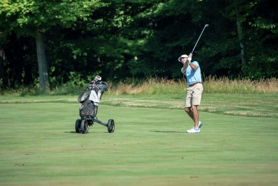 Clinton Lange of Capital Hills shot a 1-under-par 71 Tuesday, Aug. 6, 2019, to take the first round lead in the New York State Amateur golf tournament at Crag Burn in East Aurora. (Dan Thompson / NYSGA)