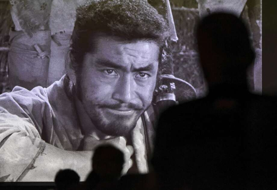 """People watch the 1954 movie """"Seven Samurai"""" in the Jefferson Theatre as part of the BMT Film Fest on Tuesday evening. Future showings will be """"Motorcycle Diaries"""" at 7:30 tonight, """"Metropolis"""" at 7:30 p.m. Thursday, """"Cinema Paradiso"""" at 7:30 p.m. Friday and several screenings will be offered beginning at noon Saturday with an awards presentation at 6 p.m. and a screening of Mahmoud Salimi's """"Not Me"""" to close out the festival.Photo taken on Tuesday, 08/06/19. Ryan Welch/The Enterprise Photo: Ryan Welch/The Enterprise"""