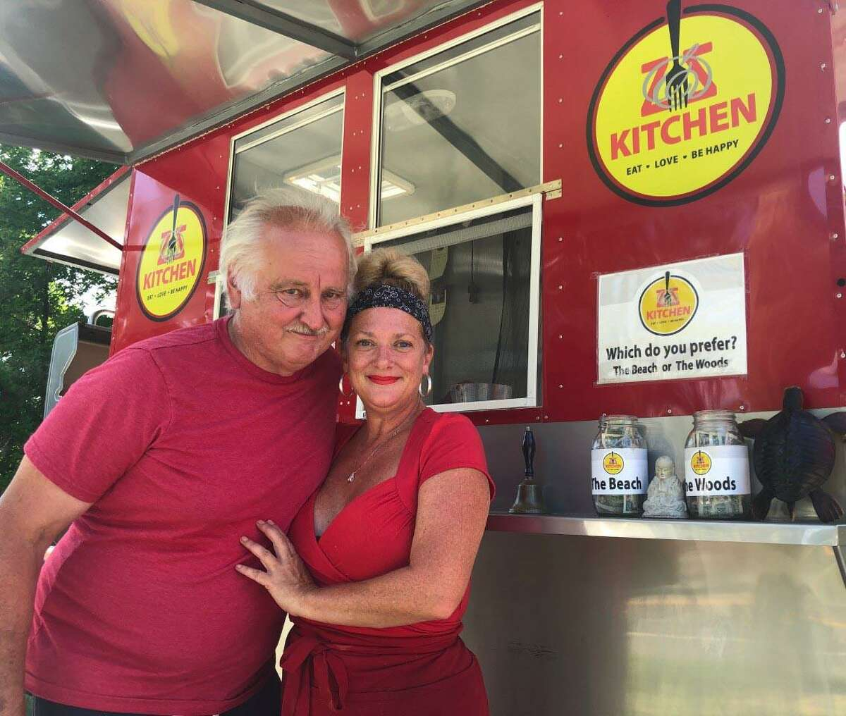 Patti and Ted Zaloski of New Milford opened Zz Kitchen, a food cart housed at the parking lot at Conn's Pond in New Milford, in May.