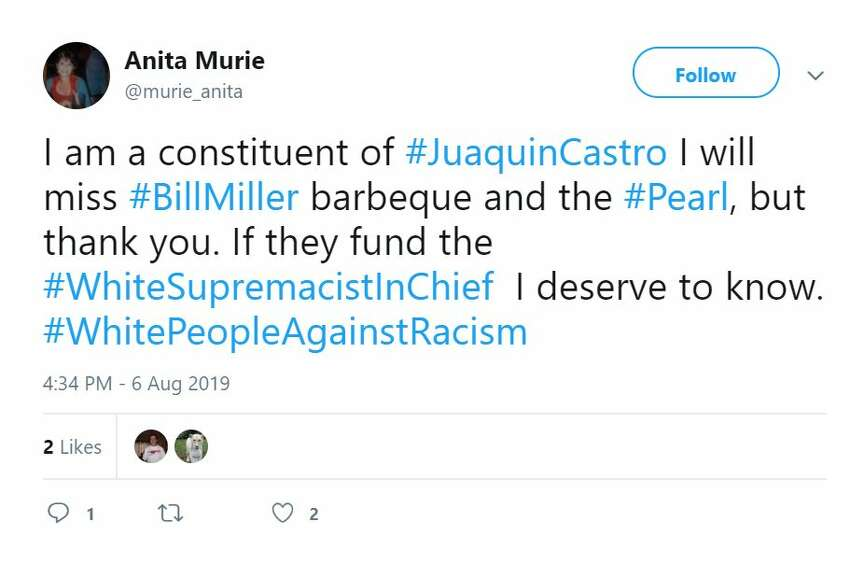 Twitter debated whether to support Bill Miller BBQ after Rep. Joaquin Castro named the chain's owner as a major contributor to the Trump campaign.