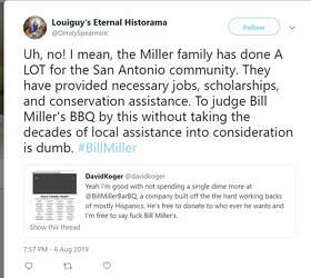 Bill Miller BBQ becomes a trending topic after support for Trump is