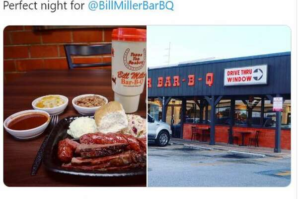 "@GregAbbott_TX: ""Perfect night for @BillMillerBarBQ"""