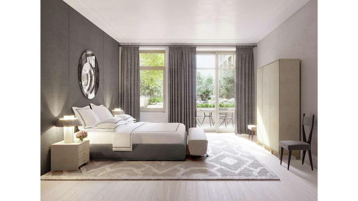 A room with light sanded floors: Designed by Designer Ryan Korban says light floors lend themselves to a more serene sleeping environment. He used them in this New York City bedroom.