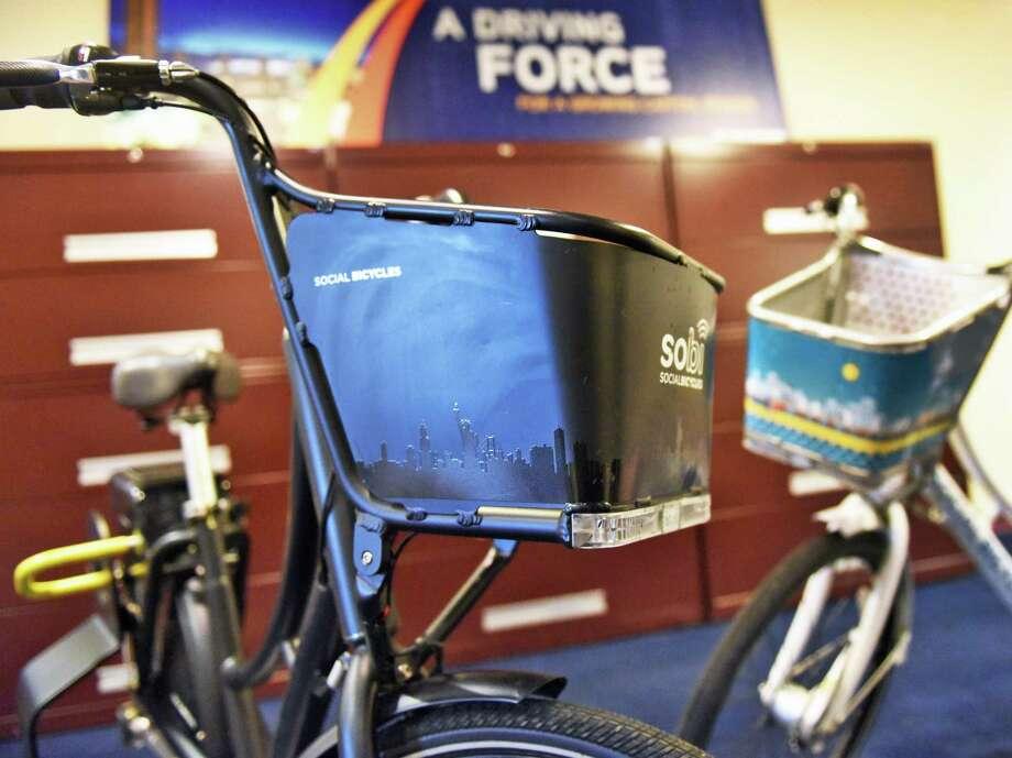 Social Bicycle bikes. Photo: John Carl D'Annibale / Albany Times Union / 20039142A