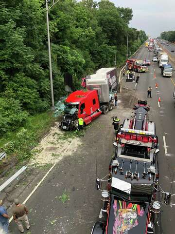 Crash of truck carrying plate glass caused big delays on I-95 in