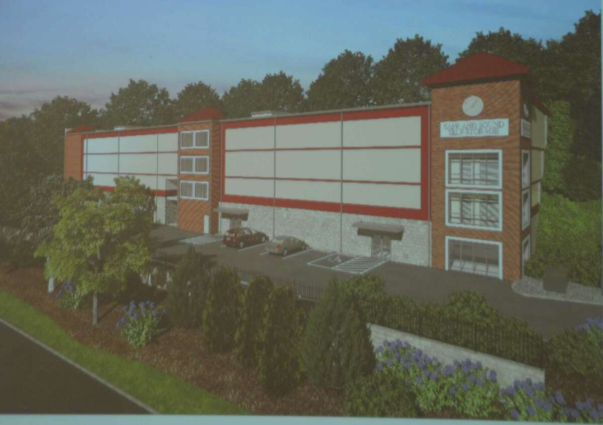 The self-storage facility proposed for 800 Ethan Allen Highway would be set into the hillside.