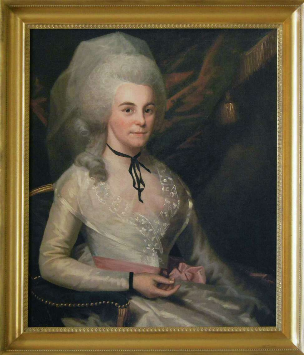 A copy of a Ralph Earl portrait of Elizabeth Schuyler Hamilton in the best parlor at Schuyler Mansion Thursday Jan. 28, 2016 in Albany, NY. The Hamiltons were married in this room. (John Carl D'Annibale / Times Union)