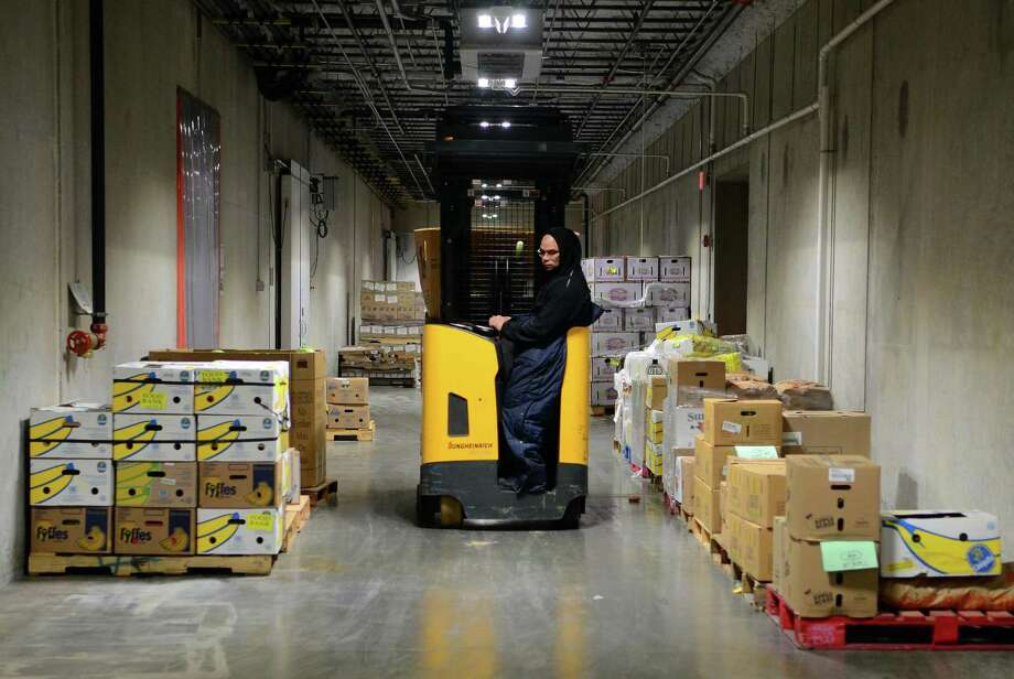 A view of the interior of the Connecticut Food Bank in Wallingford earlier this year. Photo: Christian Abraham / Hearst Connecticut Media / Connecticut Post